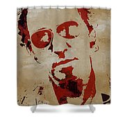 Chris Martin Coldplay Shower Curtain