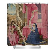 Christ Appearing To The Virgin Shower Curtain