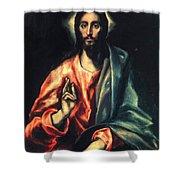 Christ As Saviour Shower Curtain