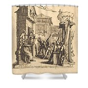 Christ Before Caiaphas Shower Curtain