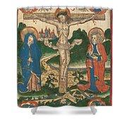 Christ On The Cross Shower Curtain