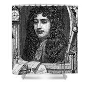 Christiaan Huygens, Dutch Polymath Shower Curtain