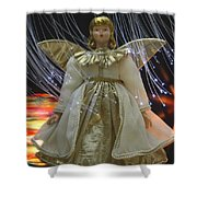 Christmas-angel Shower Curtain