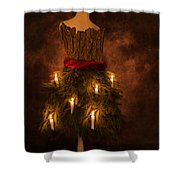 Christmas Candles Shower Curtain