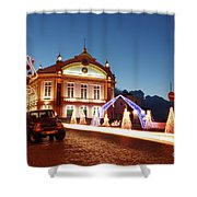 Christmas In Ribeira Grande Shower Curtain