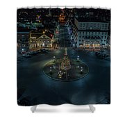 Christmas Lights, Looking North Shower Curtain
