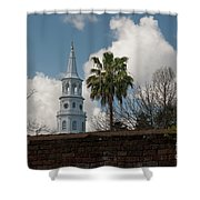 Church Bells Ringing Shower Curtain
