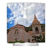 Church In Taormina Shower Curtain