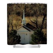 Church In The Garden Shower Curtain