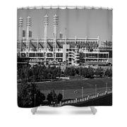 Cincinnati Reds Stadium Shower Curtain