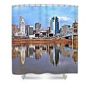 Cincinnati Reflects Shower Curtain
