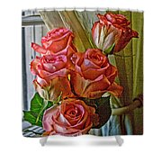 Cindy's Roses Shower Curtain