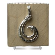 Circle Hook Pendant Shower Curtain