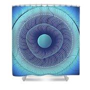 Circular Abstract Art Shower Curtain