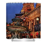 City - Vegas - Paris - Academie Nationale - Panorama Shower Curtain