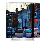 City As A Painting Shower Curtain