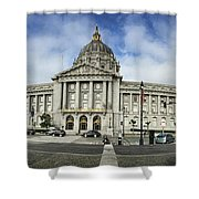 City Hall Shower Curtain by Nancy Ingersoll