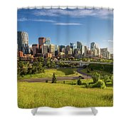City Skyline Of Calgary, Canada Shower Curtain