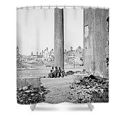 Civil War: Charleston, 1865 Shower Curtain