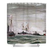 Civil War: Naval Battle Shower Curtain