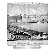 Civil War: Pontoon Bridge Shower Curtain