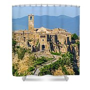 Civita Di Bagnoregio, Lazio, Italy Shower Curtain