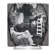 Clark Gable Mgm Sound Stage Circa 1932-2008 Shower Curtain