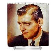 Clark Gable, Vintage Hollywood Actor Shower Curtain