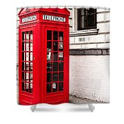 Classic Red London Telephone Box Shower Curtain