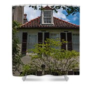 Clay Tile Roof Shower Curtain