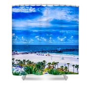 Clearwater Beach, Florida Shower Curtain