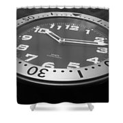 Clock Face Shower Curtain
