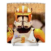 Clone Trooper Commander - Free Style Style Shower Curtain