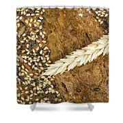 Close Up Bread And Wheat Cereal Crops Shower Curtain