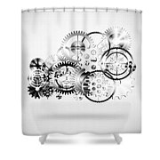 Cloud Made By Gears Wheels  Shower Curtain