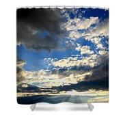 Clouded Sun Rays Shower Curtain