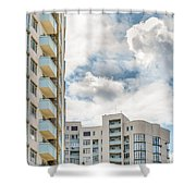 Clouds And Buildings Shower Curtain