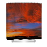 Clouds In The Sky At Sunset, Taos, Taos Shower Curtain