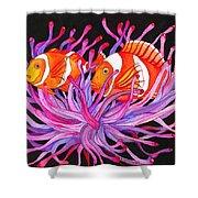 Clownfish And Sea Anenome  Shower Curtain