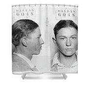 Clyde Barrow Mugshot Shower Curtain