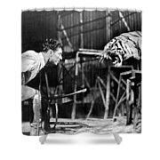 Clyde Beatty (1903-1965) Shower Curtain