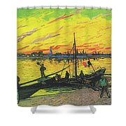 Coal Barges Shower Curtain