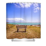 Coastal Landscape Near Padre Island Texas Shower Curtain