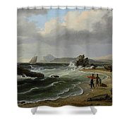 Coastal Scene Shower Curtain