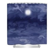 Cobalt Shower Curtain