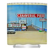 Cocoa Beach/cape Canaveral Pier Shower Curtain