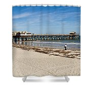 Cocoa Beach In Florida Shower Curtain