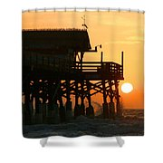 Cocoa Beach Pier/sunrise Shower Curtain