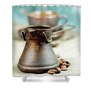 Coffee Composition Shower Curtain