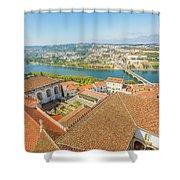 Coimbra Aerial View Shower Curtain